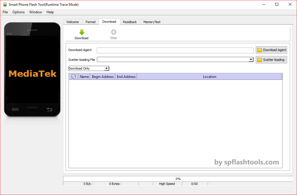 SP Flash Tool v5.1724